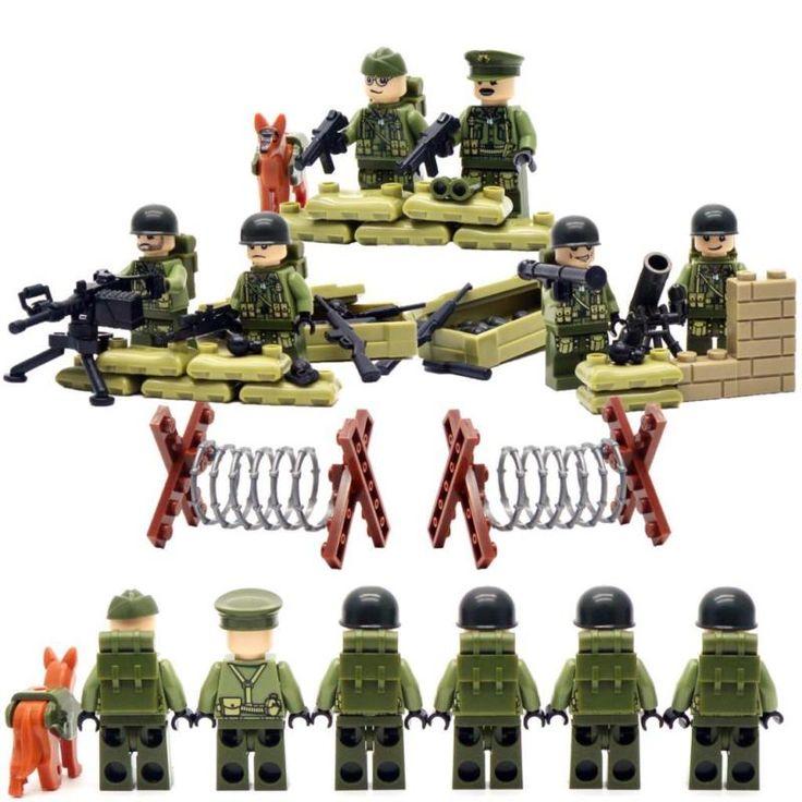 Набор лего солдатиков