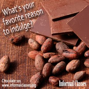 Chocolate 101 with instructor Adrienne Newman (aka Madame Cocoa) starts on 9/10 this fall!