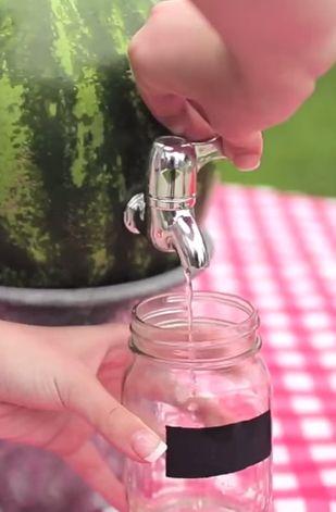 DIY watermelon keg is perfect for serving lemonade at picnics → http://youtu.be/blfaENNX2u0