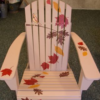 Hand painted adirondack chair - start with unfinished wood chair from Lowes or Home Depot.