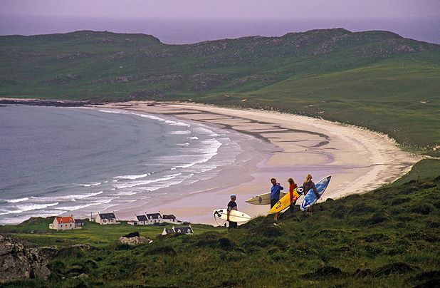 One of the spectacular beaches on Tiree