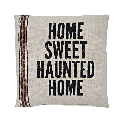 "Haunted Home Halloween Pillow, 15"" x 15"" $11.99 #gordmans #halloween #halloweendecor #pillow #hauntedhouse"