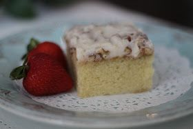 White Texas Sheet Cake  OH MY GOSH!! This cake is divine!!! It is probably the easiest cake I have ever made! It is extremely moist and the flavor is of...