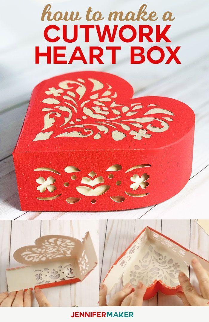make a paper heart box to show your love  jennifer maker