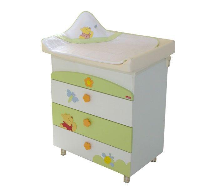 Cheerful Winnie the Pooh Baby Nursery Furniture Set : Practical Winnie the Pooh Themed Baby Cupboard for Cute Baby Nursery Room