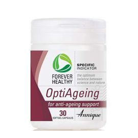 OptiAgeing – 30 Softgel capsules OptiAgeing contains potent antioxidants from Resveratrol and Grape Seed extract, combined with much needed amino acids. This unique formula works synergistically to help protect the body from free radical damage. The result: a more youthful appearance and healthier, better functioning organs. http://www.anniquedayspa.co.za/eb_product/optiageing-30-softgel-capsules/