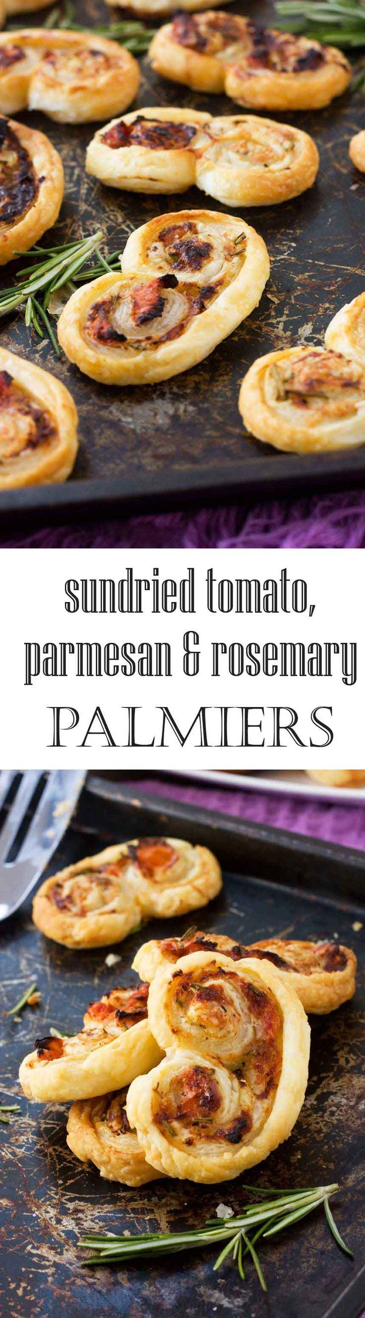Sun-dried tomato, parmesan & rosemary palmiers | Recipe ...