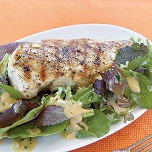 Grilled Chicken with Mustard-Tarragon Sauce | MyRecipes.com #myplate #protein