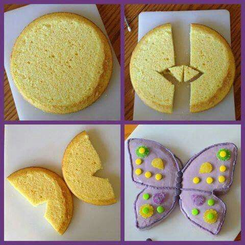 HOW TO MAKE A BUTTERFLY CAKE...this is so cute & easy to make! What do you think?  Directions...http://www.whatilivefor.net/2015/07/butterfly-cake.html