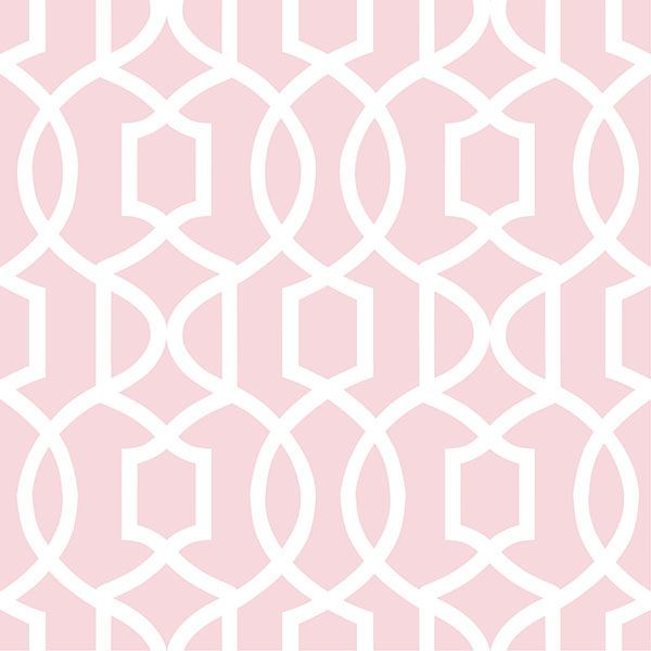 Pink Grand Trellis Peel And Stick Wallpaper by NuWallpaper