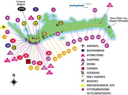 Grand Bahama Map / Freeport Bahamas Map - Bahamas Vacation Travel Guide