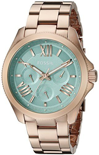 Fossil AM4540 40mm Gold Plated Stainless Steel Case Rose Gold Gold Plated Stainless Steel Mineral Women's Watch