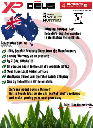 http://detectorist.com.au Australia's Authorised XP Deus Distributor also Authorised for MarsMD and NEL.