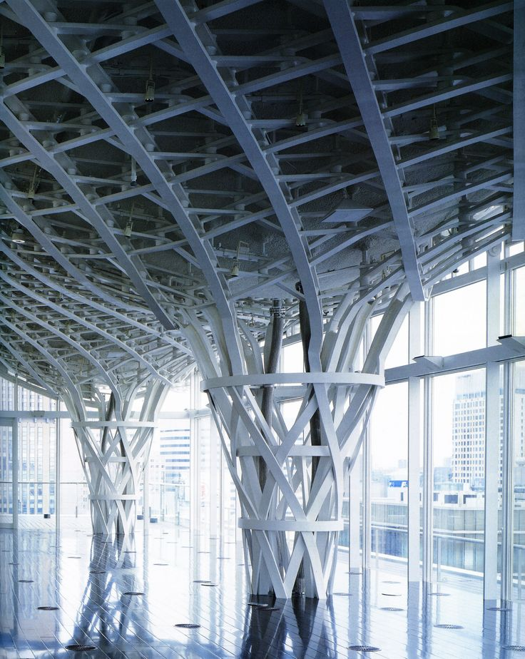 Roof Structure, Nicolas G. Hayek Center, Ginza, Tokyo, Architect: Shigeru Ban, Steel Fabricator: Yajima