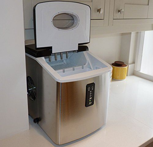 Ice Machine - Portable, Counter Top Ice Maker MachineTG22 - Produces 26 lbs Of Ice Per 24 Hours - Stainless Steel - By ThinkGizmos (trademark protected) - http://www.our-shopping-store.com/appliances.asp