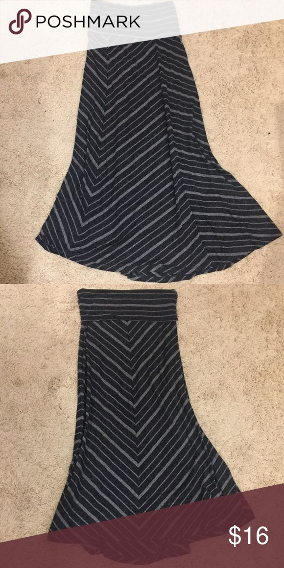 Blue striped maxi skirt Dark navy maxi skirt with light blue stripes Mossimo Supply Co Skirts Maxi