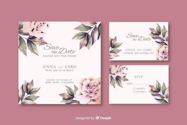 Download Watercolor Floral Wedding Invitation Template For Free