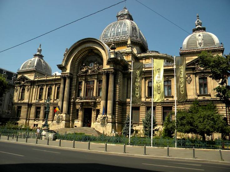 **French architects in Bucharest**  Arch. Paul Gottereau - The CEC Palace (1897-1900, Eclectic style), Bucharest, Romania
