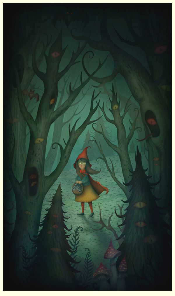 Little Red Riding Hood illustration by Vladimir Stankovic...