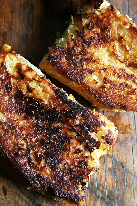 Tartine Bread's baked French toast :: oh, wow.  yum.  vanilla, lemon zest, oven baked.  mmmm.