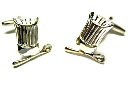 Silver Chef Cook Hat Cufflinks CuffCrazy. $25.00. Money Back if not 100% Satisfied. Free Gift Box Included!. Round Silver Bullet Back Setting