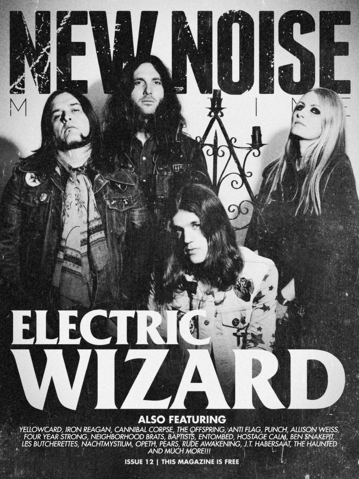 New Noise Magazine - Issue #12  Featuring Electric Wizard, Yellowcard, Iron Reagan, Cannibal Corpse, The Offspring, Anti Flag, Punch, Allison Weiss, Four Year Strong, Neighborhood Brats, Baptists, Entombed, Hostage Calm, Ben Snakepit, Les Butcherettes, Nachtmystium, Opeth, Pears, Rude Awakening, J.T Haaberstaat, The Haunted and much more!
