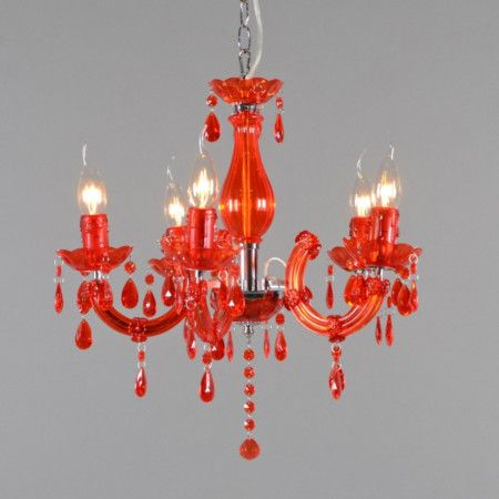 21 best images about rojo que te cojo on pinterest cable colors and ceiling lamps - Lampara arana colores ...