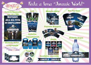 "Festa stampabile a tema ""Jurassic World"""
