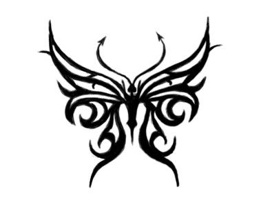 tribal crown tattoo designs | butterfly tattoo designs ideas for girls