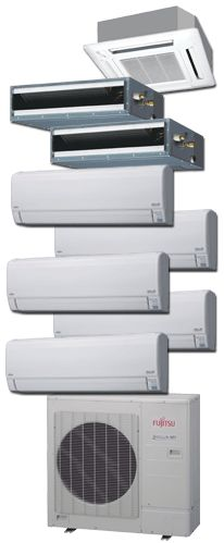 fujitsu general ductless minisplits - Ductless Air System