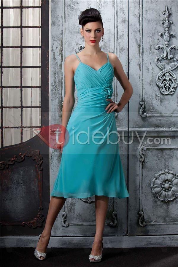 Taidobuyはお客様のために高品質なプロム/二次会ドレス スパゲティストラップ ティー丈を提供いたします。その価格は8276円で買えます。