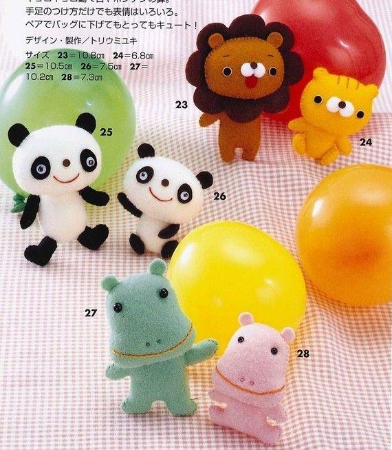 Handmade Adorable Felt Animals and Mascots от MeMeCraftwork