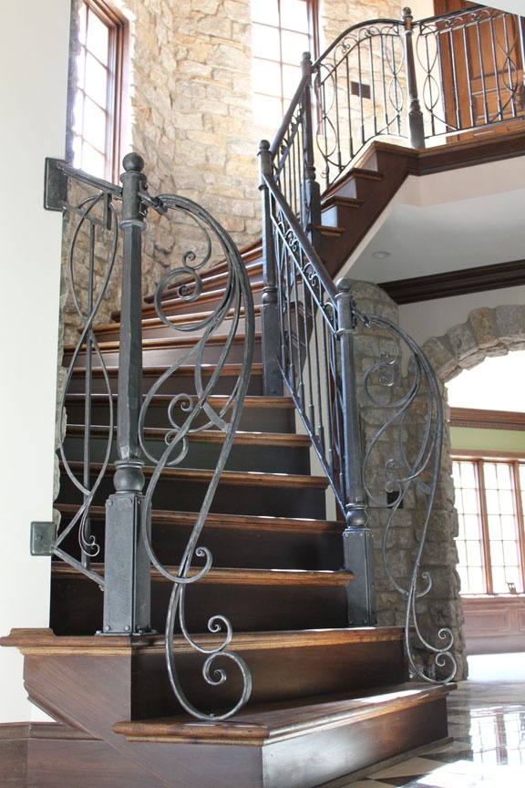 fun wrought iron staircase. Interesting iron treatment  adds even more to a beautiful staircase 1776 best blacksmithing gates railings doors sculpture images