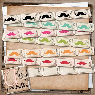 U printables by RebeccaB: FREE Printable - Moustache Tickets