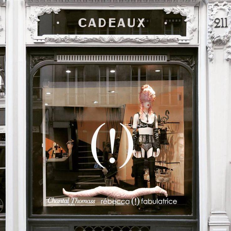 "CHANTAL THOMASS, Rue Saint Honore, Paris, France, ""Exposition: bretelles & attrape-corps"", photo by Rebecca Fabulatrice, pinned by Ton van der Veer"
