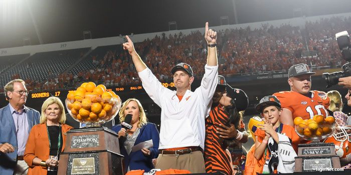 "Swinney: ""I'm just so proud of our team"" - Clemson Football News 