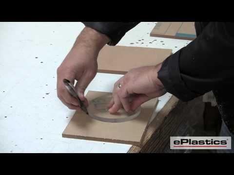 How to Cut Acrylic (Plexiglass) --for clear fan blades.