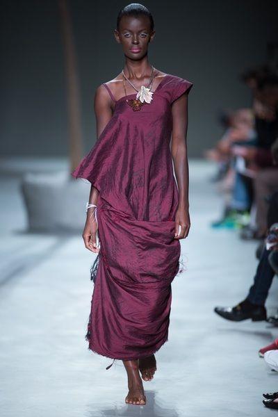 SIES!isabelle Summer 2015-16 burgundy raw silk dress #SIESzumae