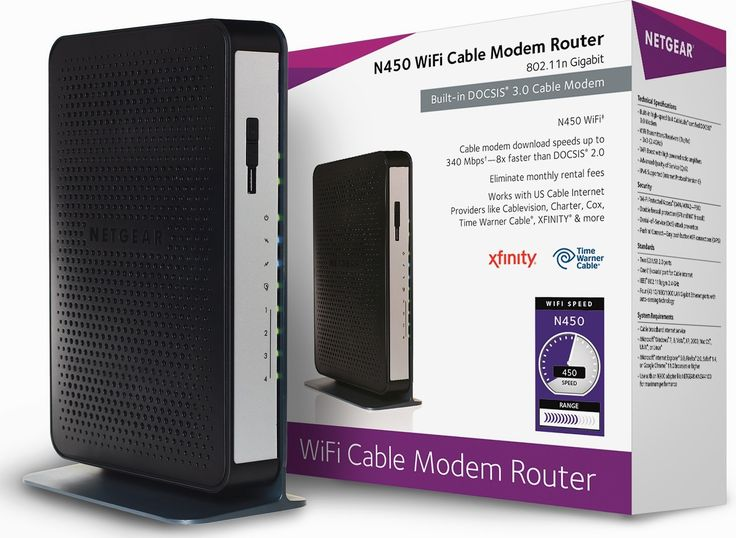 NETGEAR N450 (8x4) WiFi DOCSIS 3.0 Cable Modem Router (N450) Certified for #Xfinity from Comcast, #Spectrum, Cox, Cablevision & More  https://couponash.com/deal/netgear-n450-8x4-wifi-docsis-30-cable-modem-router-n450-certified-for-xfinity-from-comcast-spectrum-cox-cablevision-more/164925