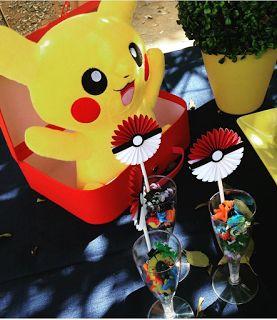 Ideas, decoración y manualidades para fiestas: Ideas para los centros de mesa de pokemon