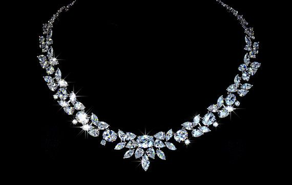 Marquise Leaf Bridal Necklace by DellaSposaBridal on Etsy, $98.00