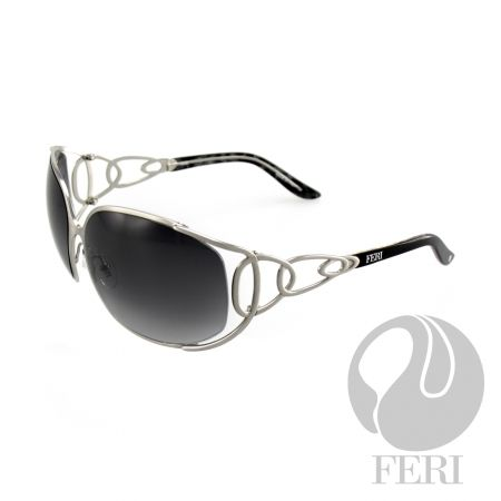 FERI Shiraz - Pewter Shield - FERI frames are manufactured in Italy - Lenses are UV 400 and provide protection against harmful UV rays - Mazzucchelli acetate is used - Mazzucchelli is the world leader in acetate production - Acetate is a hypo allergenic plastic - Acetate is used for its shine, color depth and durability  Invest with confidence in FERI Designer Lines.
