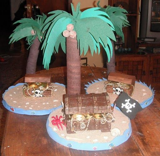 Centro de mesa fiesta pirata pinterest mesas - Decoraciones de mesas ...