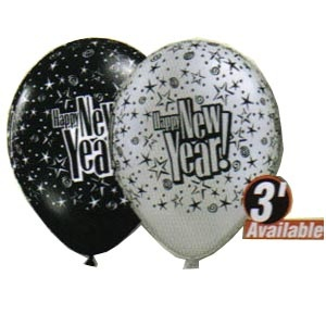 """New Year! Starblast 11"""" Balloon (2 colour options) Empty Price 10 or 100 per package"""