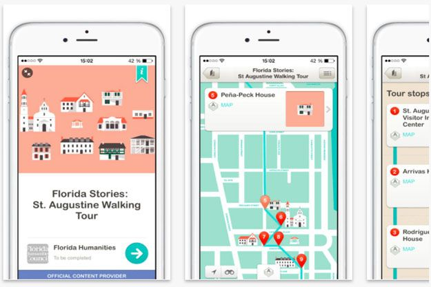 The Florida Stories audio tour app, available for free provides 11 walking tours of cities including Tampa's Ybor City, Tarpon Springs and Key West where you'll discover how history shaped the state.