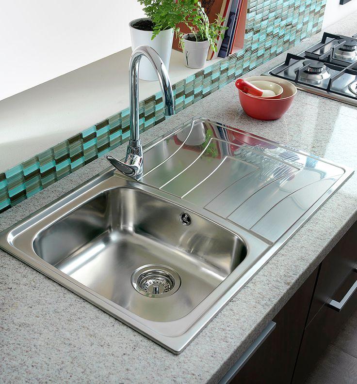 Teka lavaplatos acero empotrado universo 79 x 50 cm products for Lavaplatos para esquinas