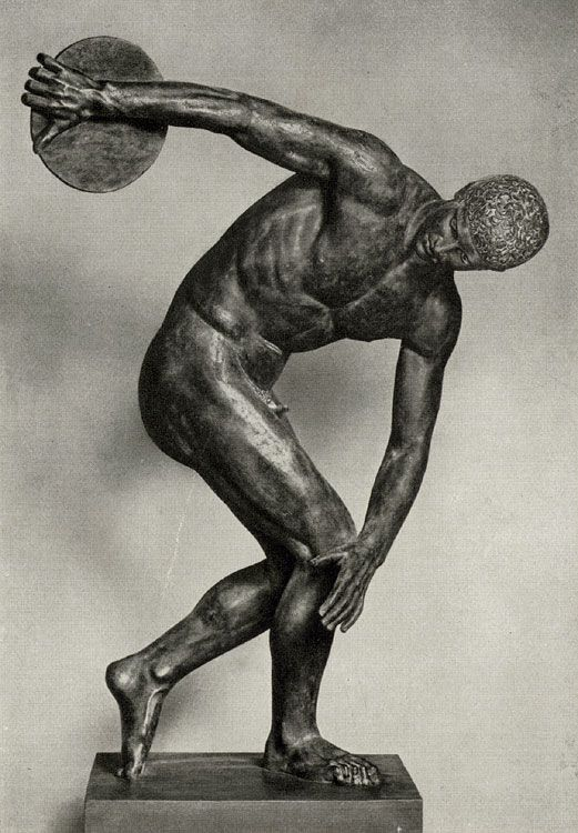 """Discobolus"" by Greek sculptor Myron, one of the most famous masterpieces of the classical period"