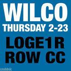 #lastminute  Wilco Winterlude Ticket at Chicago Theatre Thursday 2-23-2017 Loge Front Balcony #deals_us