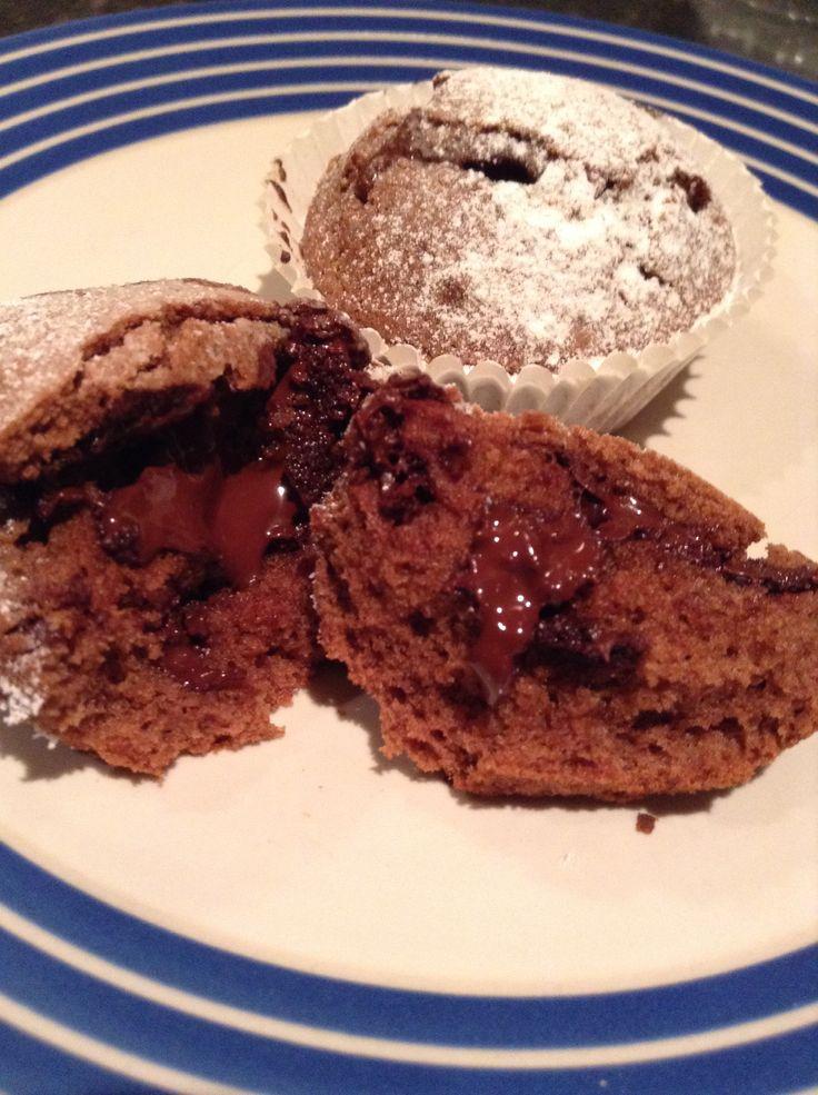 Melting chocolate cupcakes www.estheramigo.com
