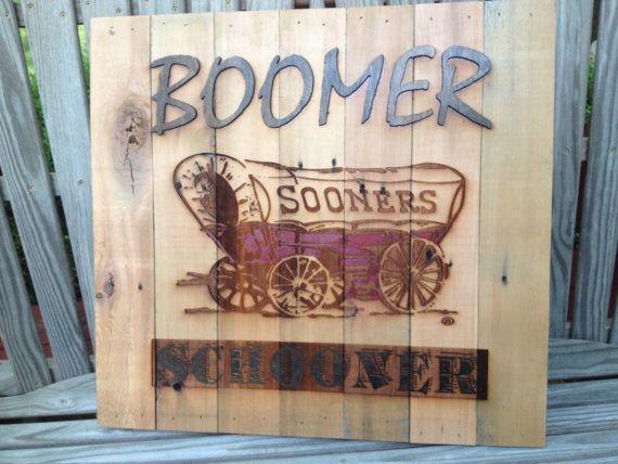 Oklahoma Sooner Schooner 23 x 23 approx. Item 625 by LaserZStudio, $85.00